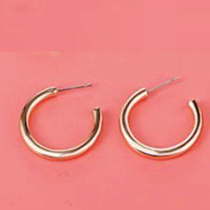 Gold Hoop Earrings New